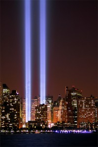Picture of lights from New York City