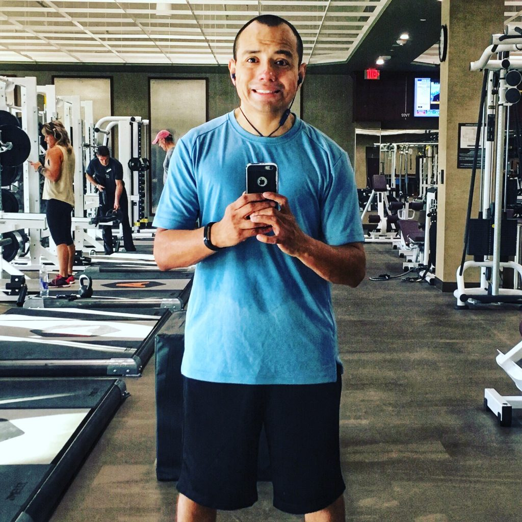 Carlos Frevert at the gym.